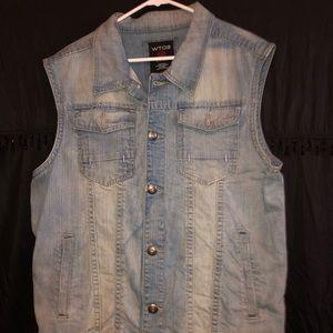 Men's WT02 jean designer vest jacket